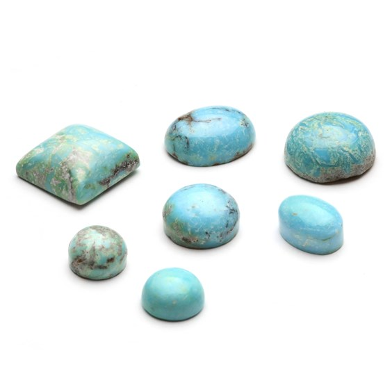 Natural Untreated Turquoise Cabochons, Approx 10x8mm Oval