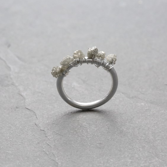 How to make this Rough Diamond Ring