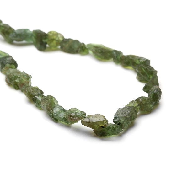 Green Apatite Rough Nugget Beads