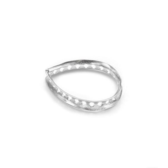 Sterling Silver Eternity Teardrop Shaped Bead Design Frame