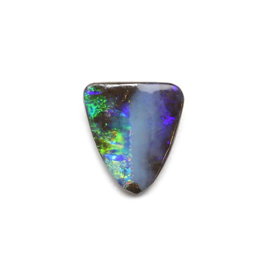 Premium Australian Freeform Boulder Opal Cabochon, Approx 13.5x12mm