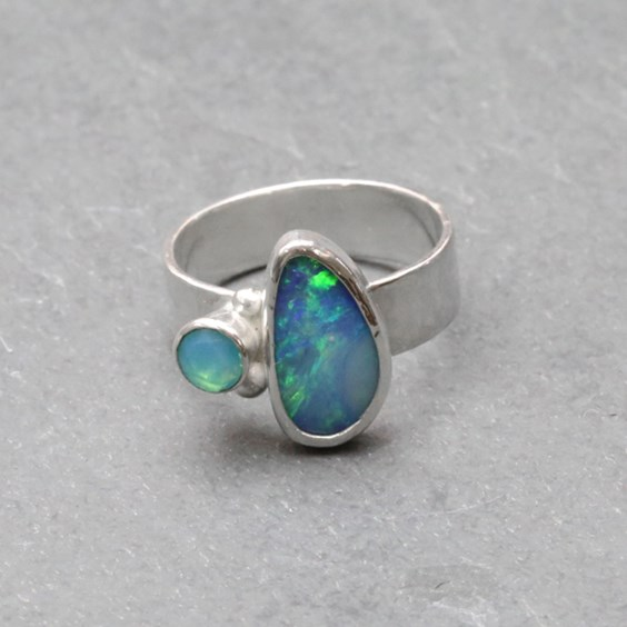 Opal Ring By Sea Surf Rocks