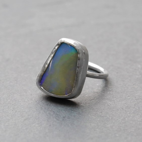 Boulder Opal Ring By Hayley From Kernowcraft