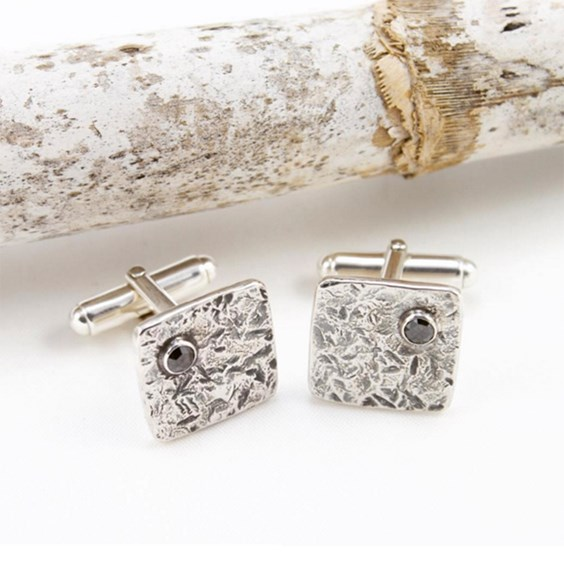 Black Diamond Cufflinks By Jeweller Caroline Jones