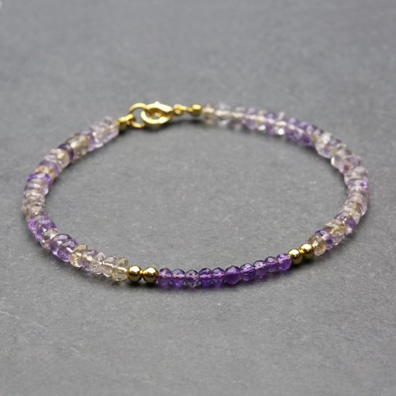 Finished ametrine accent bracelet