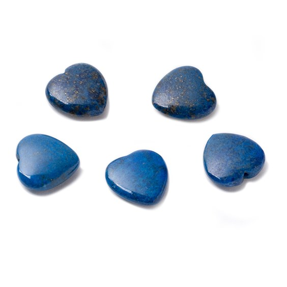 Lapis Lazuli Top Drilled Gemstone Hearts, 12mm