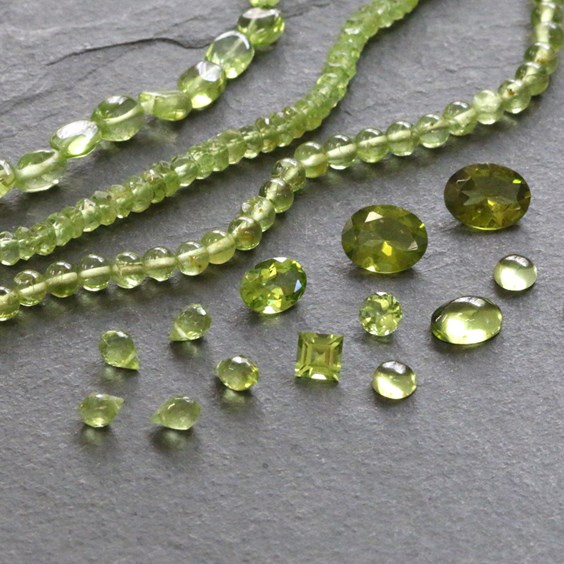perdiot gemstones for jewellery making from Kernowcraft