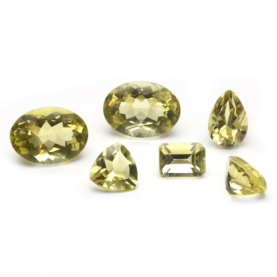 Lemon Citrine Faceted Stones