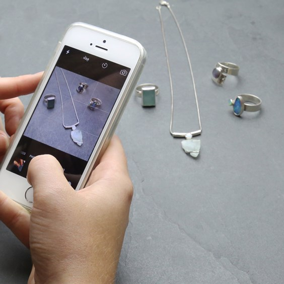 taking photos of jewellery on your phone