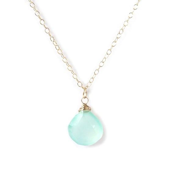 gemstone briolette necklace example
