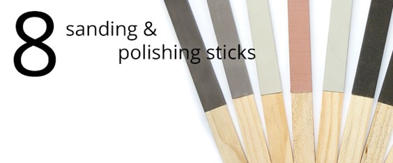 Sanding and polishing sticks