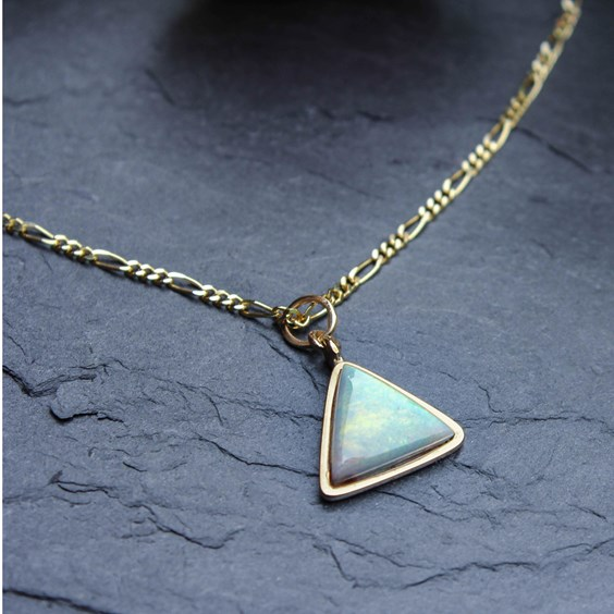how to makes setting for triangle opal pendant
