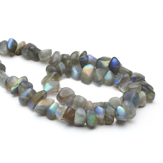Labradorite Tumbled Nugget Beads, Approx From 8-10mm
