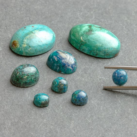 Top Quality Chrysocolla Oval Shape Cabochon,Chrysocolla Cabochon For Jewelry Making,,55X29X6 mm,,DG-3811