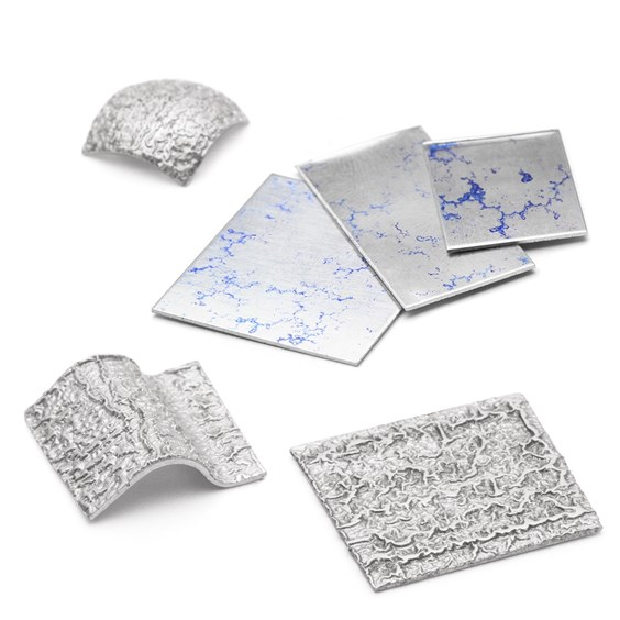 Silver Crinkle Metal Sheet