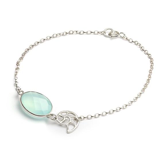 Nautilus Shell Charm Bracelet
