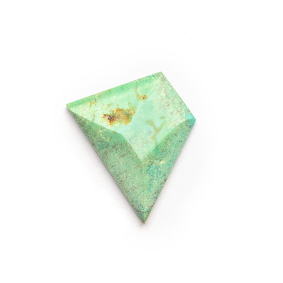 Untreated Natural Turquoise Faceted Top Cabochon, Approx 19x13mm