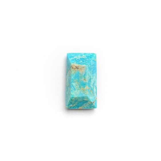 Untreated Natural Turquoise Faceted Top Cabochon, Approx 13x7mm