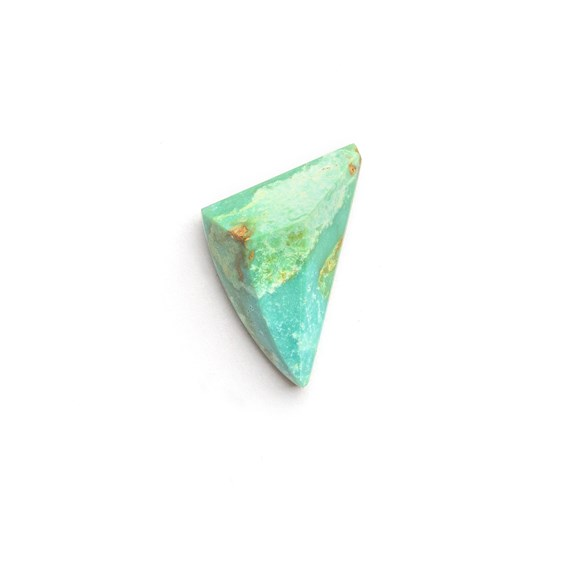 Untreated Natural Turquoise Faceted Top Cabochon, Approx 16.5x9.5mm