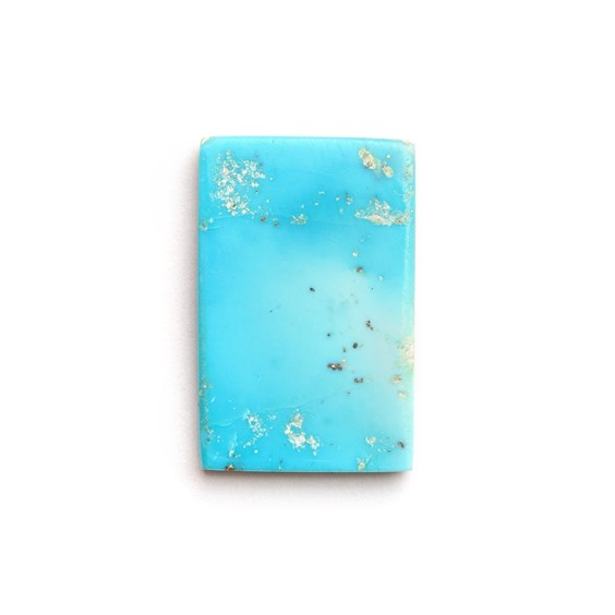 Untreated Natural Persian Turquoise Rectangular Cabochon, Approx 20x13mm