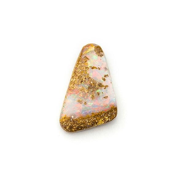 Australian Boulder Opal Freeform Cabochon, Approx 12.5x9mm