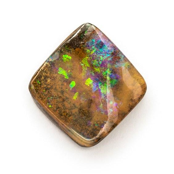 Australian Boulder Opal Freeform Cabochon, Approx 13x12.5mm