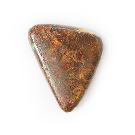Australian Boulder Opal Freeform Cabochon, Approx 15x12mm