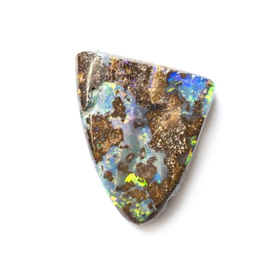 Australian Boulder Opal Freeform Cabochon, Approx 12.5x12mm