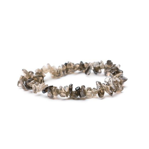 Smoky Quartz Chip Bead Bracelet