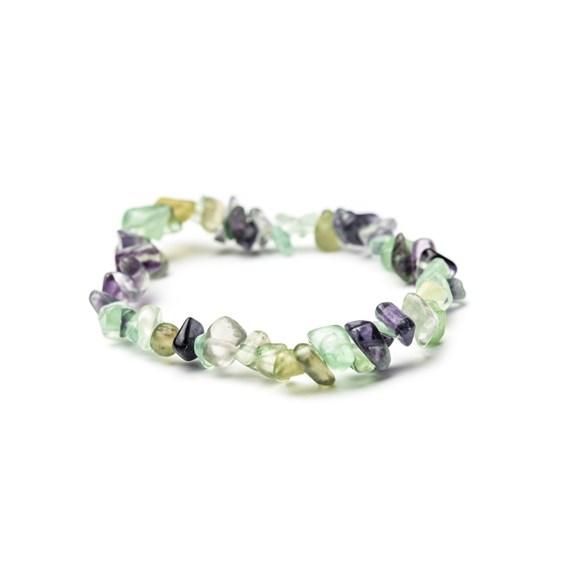 Rainbow Fluorite Chip Bead Bracelet