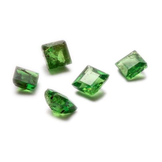 Tsavorite Garnet Faceted Stones