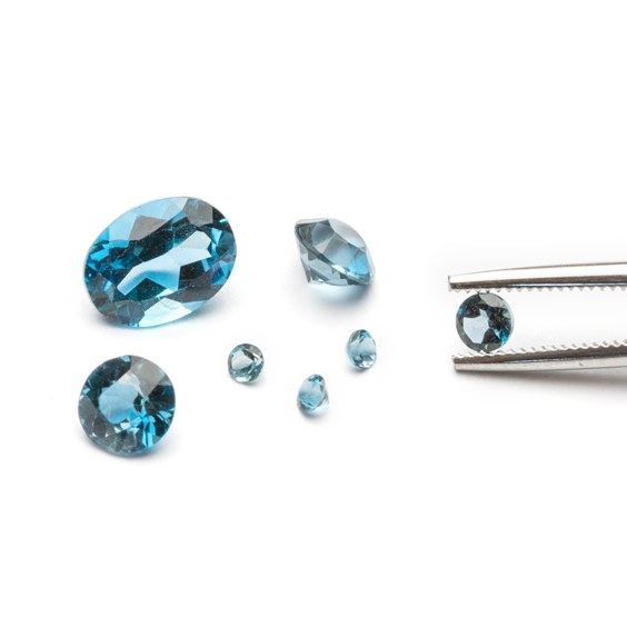 london blue topaz faceted stones