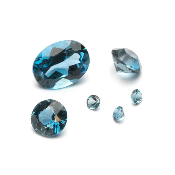 London Blue Topaz Faceted Stones
