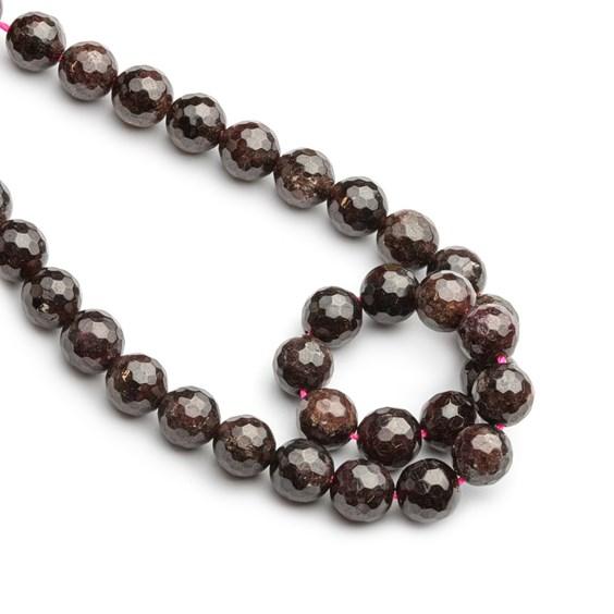 Garnet Faceted Round Beads, 8mm