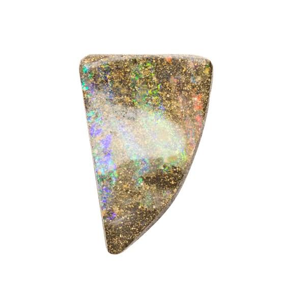 Australian Boulder Opal  Freeform Cabochon, Approx 29x19mm