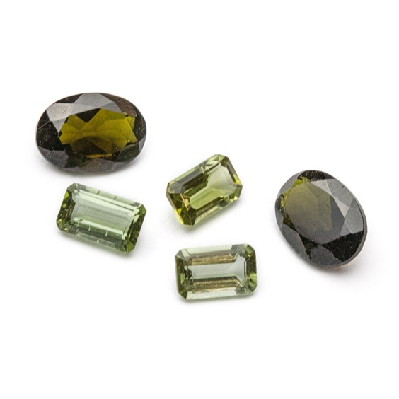 Green Tourmaline Faceted Stones