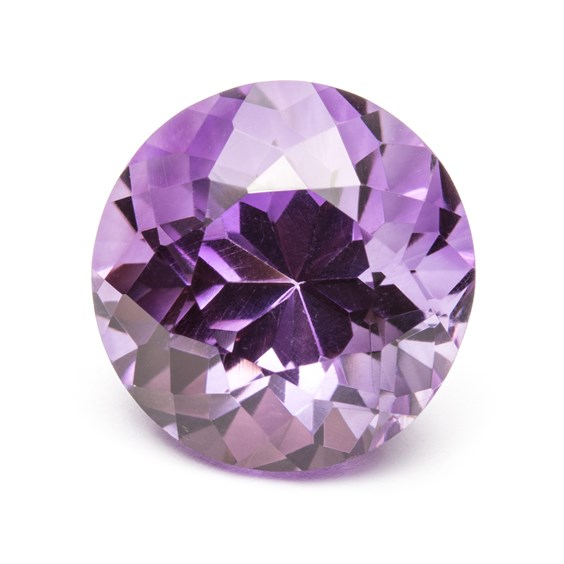 Amethyst 18mm Round Faceted Stone