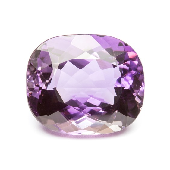 Amethyst 22x19mm Cushion Cut Faceted Stone
