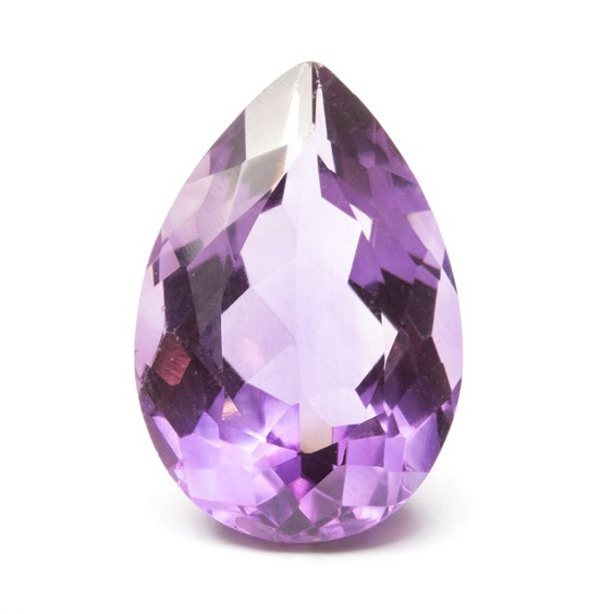 Amethyst 23x16mm Teardrop Faceted Stone