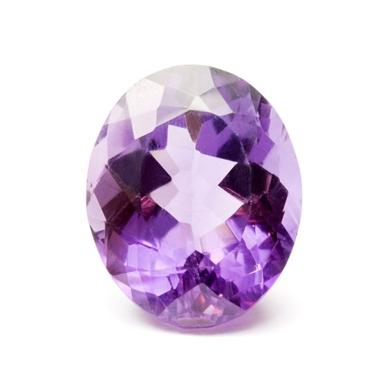 Amethyst 22x18mm Oval Faceted Stone