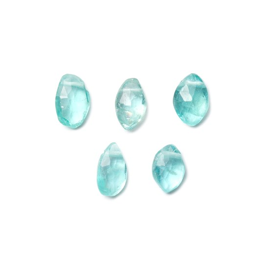 Apatite Marquise Shape Faceted Briolette Bead, Pack of 10 Beads