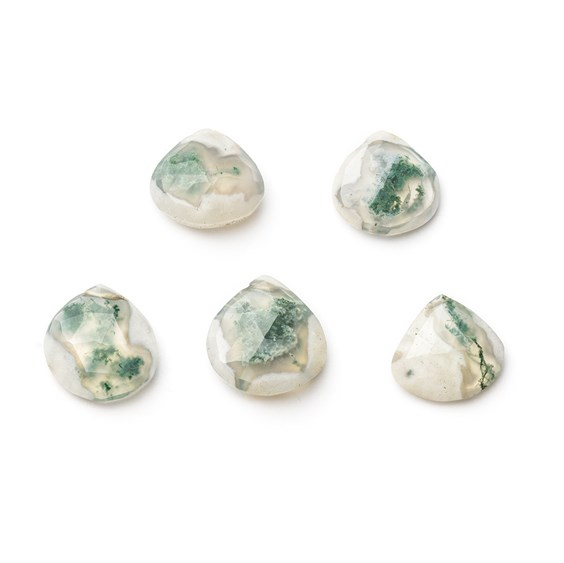 Solar Quartz Faceted Heart Shape Briolette Beads
