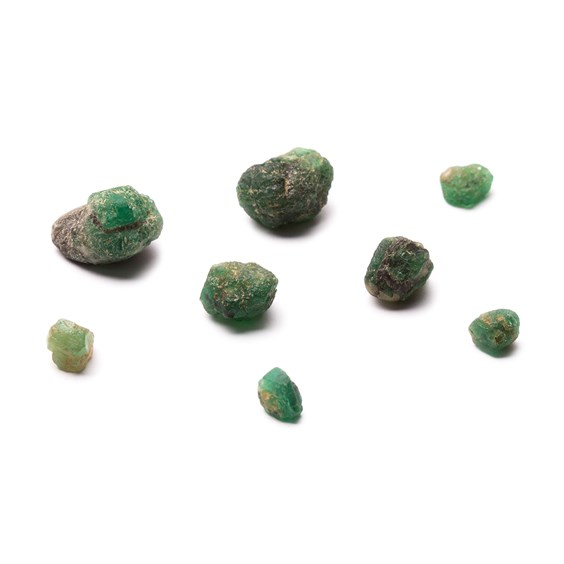 Natural Emerald Nuggets Undrilled