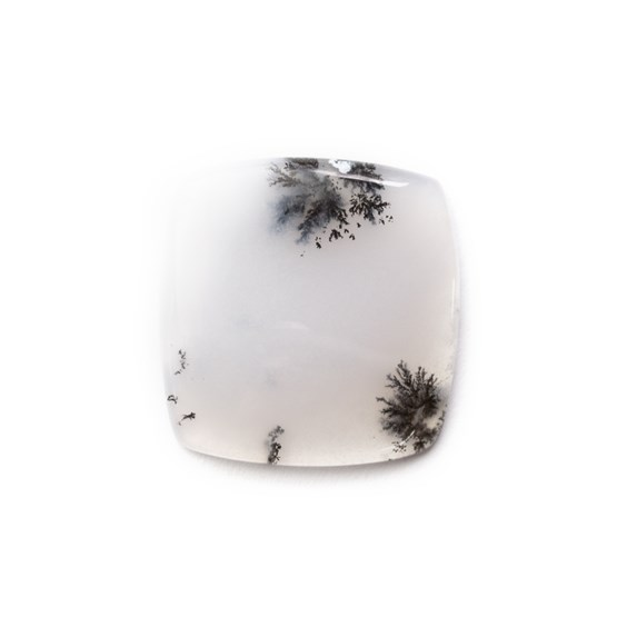 Dendrite Opal Square Cabochon, Approx 21.5mm