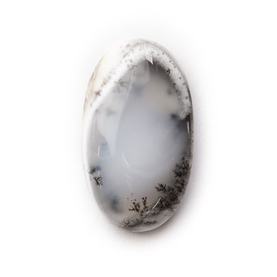 Dendrite Opal Oval Cabochon, Approx 23.5x13.5mm