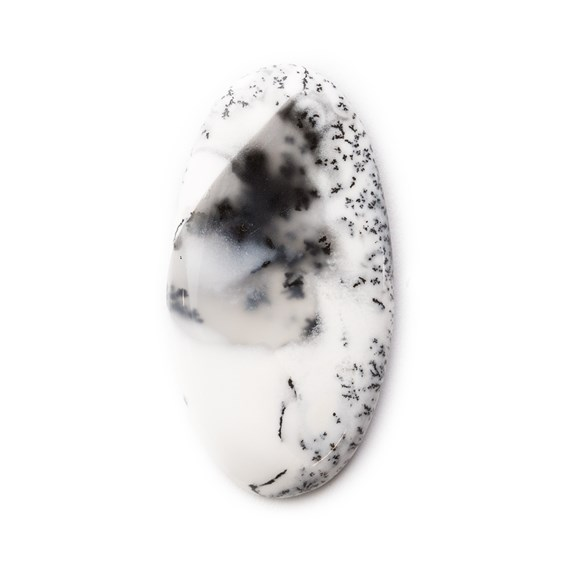 Dendrite Opal Oval Cabochon, Approx 34x18mm