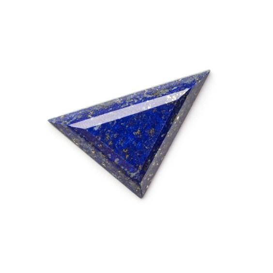 Lapis Lazuli Faceted Top 33x20mm Triangular Cabochon