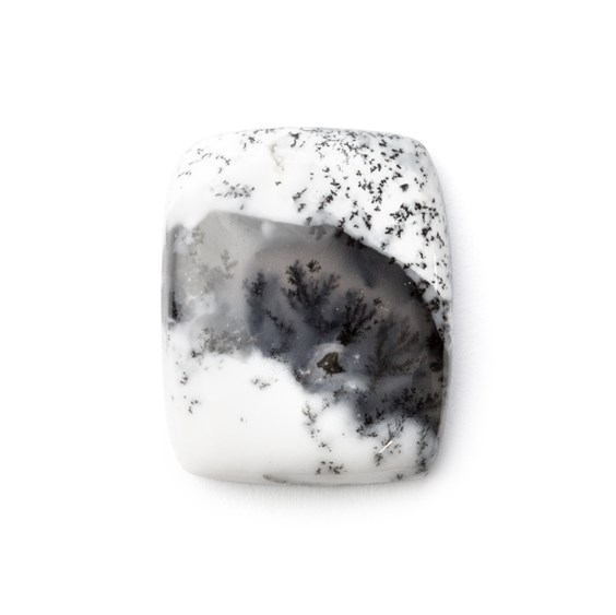 Dendrite Opal Rectangle Cabochon, Approx 21.5x17.5mm