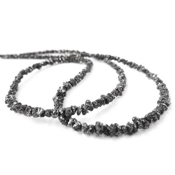 Black Diamond Natural Rough Nugget Beads