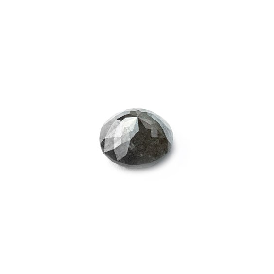 Grey Diamond Rose Cut Cabochon, Approx 5.4mm Round
